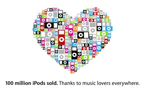 100 millionth iPod has been sold