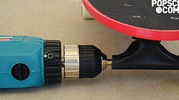 Drill-powered Skateboard