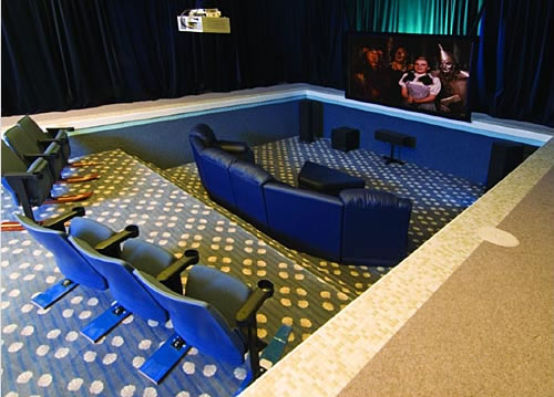 Home Theater in Pool