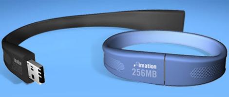 Компания разработала USB накопитель на флэш-памяти, Flash Wristband , который выполнен в виде стильного браслета.
