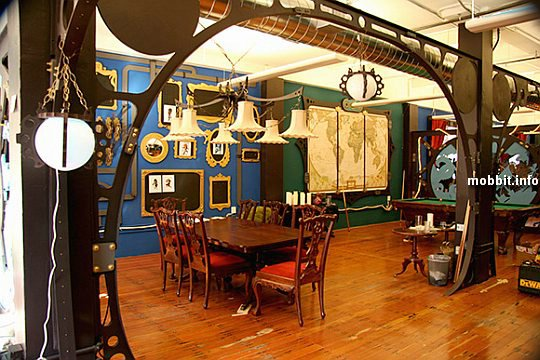Three Rings Design's Steampunk office