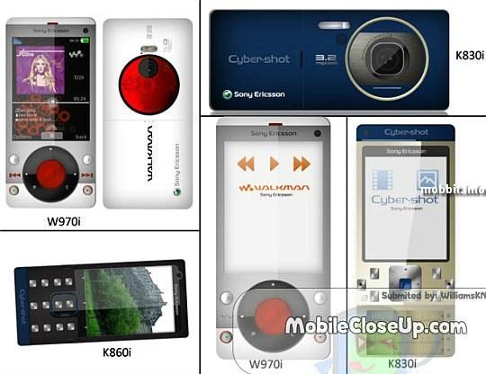 Sony Ericsson 2008 line