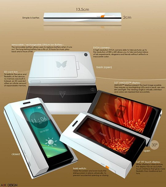 Butterfly concept phone