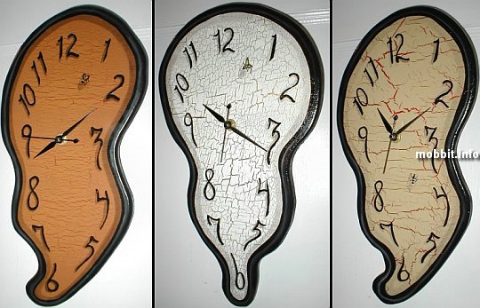 melted clocks