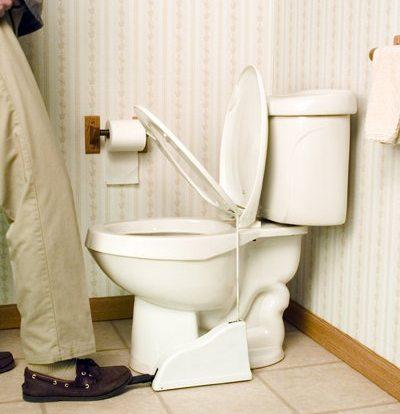 pedal toilet seat