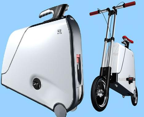 ТОП-10. футуристичных чемоданов: чемоданы-велосипеды, -мотоциклы, -стулья.