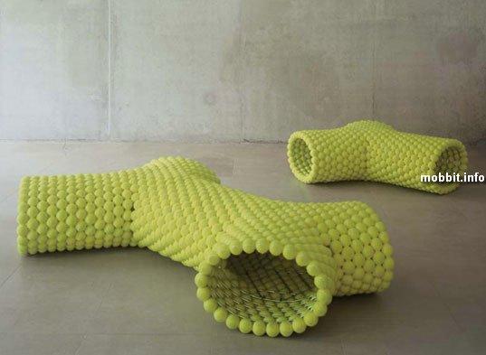 tennis-balls benches