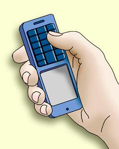 upside-down phone
