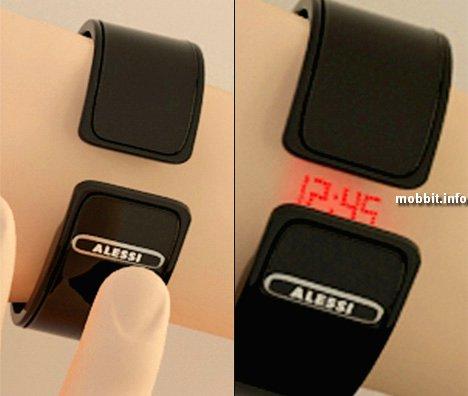 Часы с лазерным циферблатом