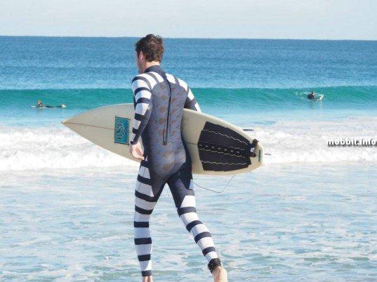 Гидрокостюм, делающий пловца невидимым для акул