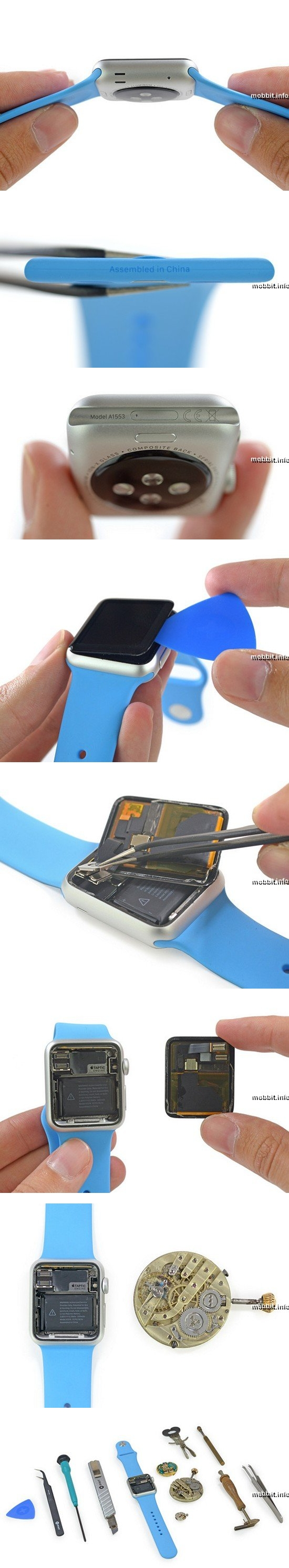 Apple Watch разобраны в лаборатории iFixit
