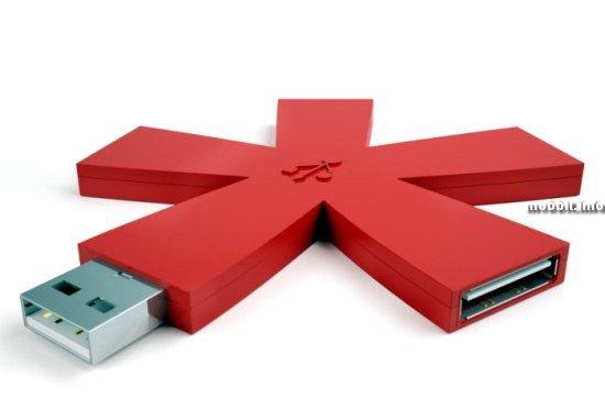Asterisco USB-hub