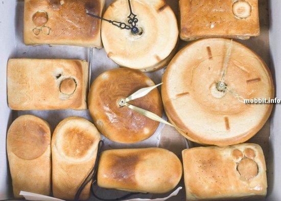 Часы, радио и фонарь из… хлеба!