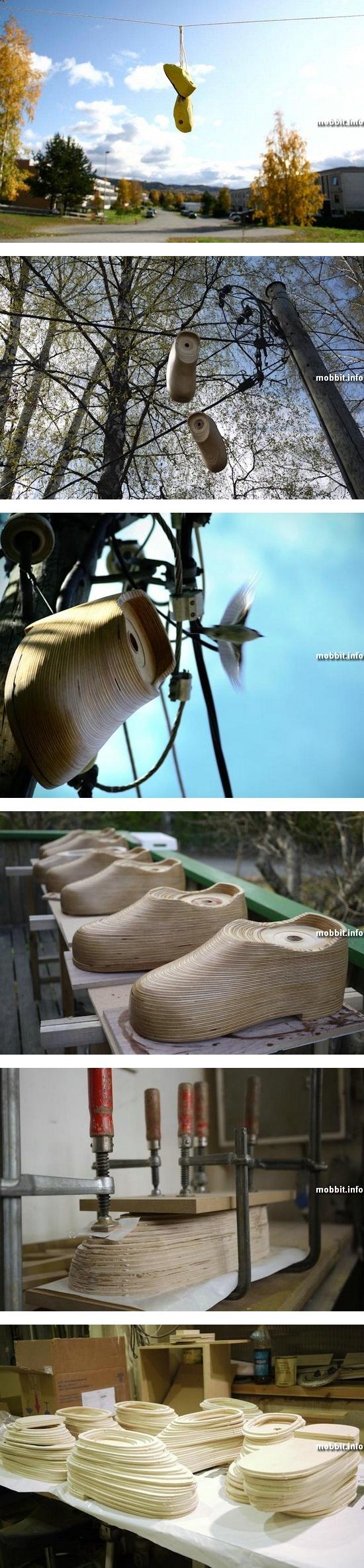 Птичьи «гостиницы» в виде ботинок
