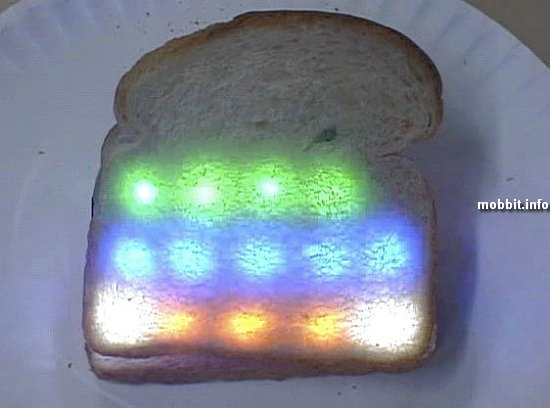 Bread with LEDs