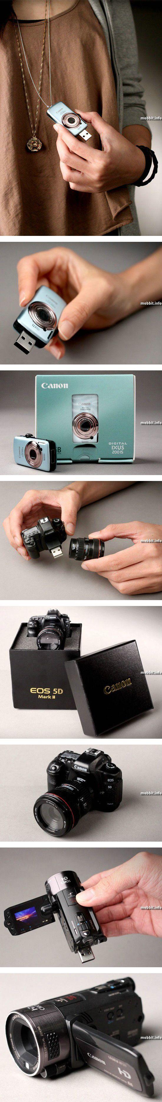 USB-флешки в виде камер Canon
