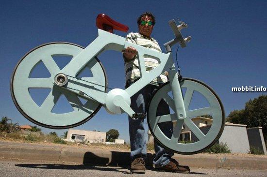 Дешевый картонный велосипед