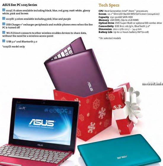 ASUS Eee PC 1025C и 1025CE