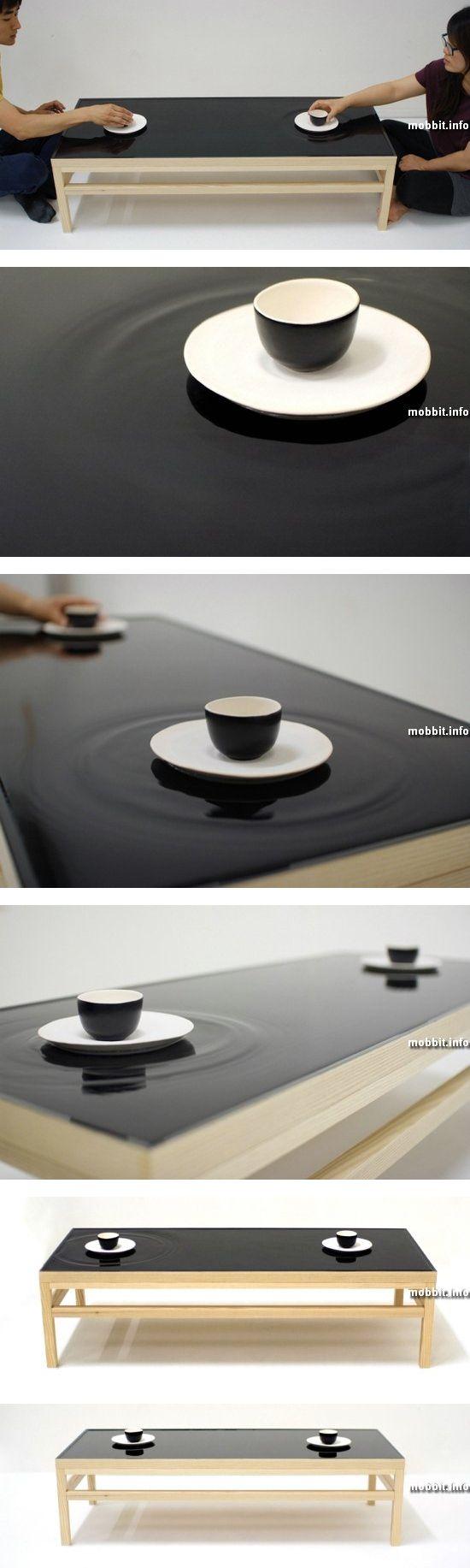 Чайный столик с эффектом водной ряби