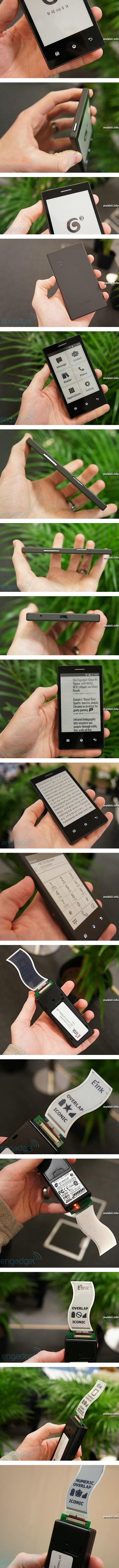 Смартфон с дисплеем из электронной бумаги от компании E Ink