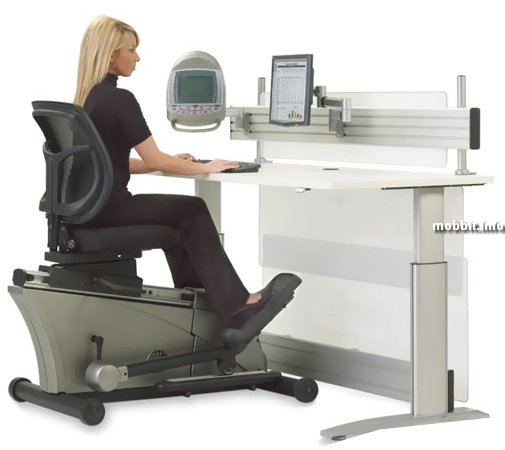 Офисный стол с эллиптическим тренажером