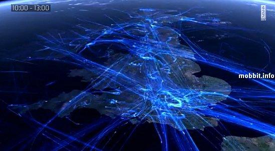 Воздушный трафик над Европой