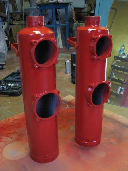 Колонки из огнетушителей
