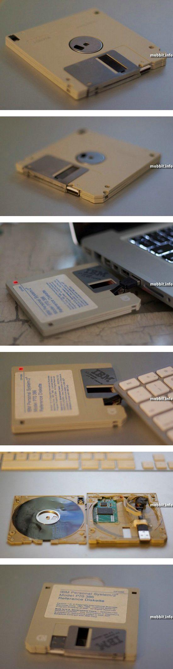 USB-флэшка из двух старых дискет