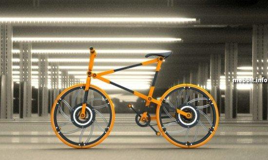 Велосипед со складными колесами