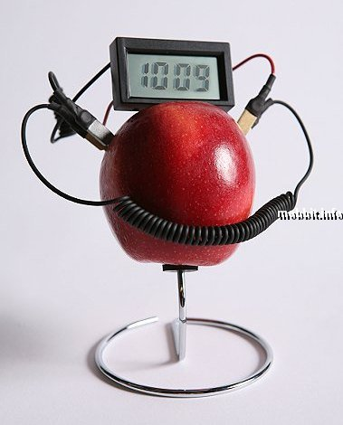 Часы, работающие на соке фруктов и овощей