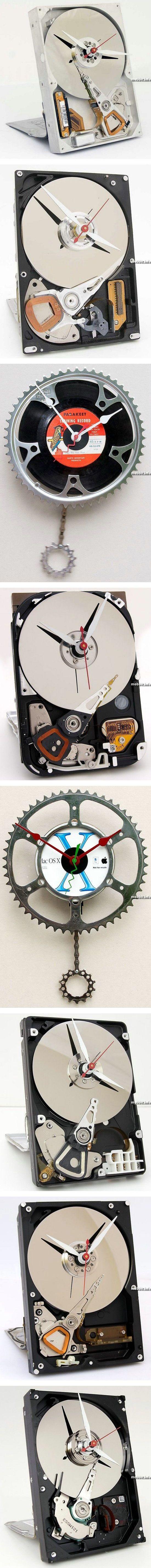 часы из старой техники