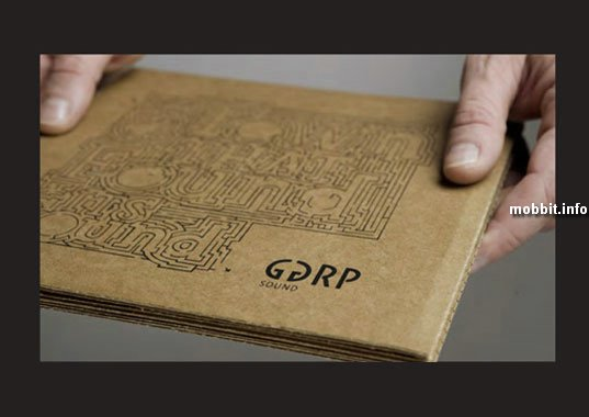 Картонный патефон от GGRP Sound