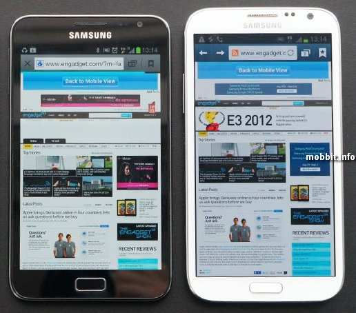 Samsung Galaxy Note против Samsung Galaxy Note II