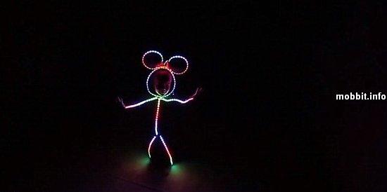 Странный светодиодный костюм Минни Маус на Хэллоуин