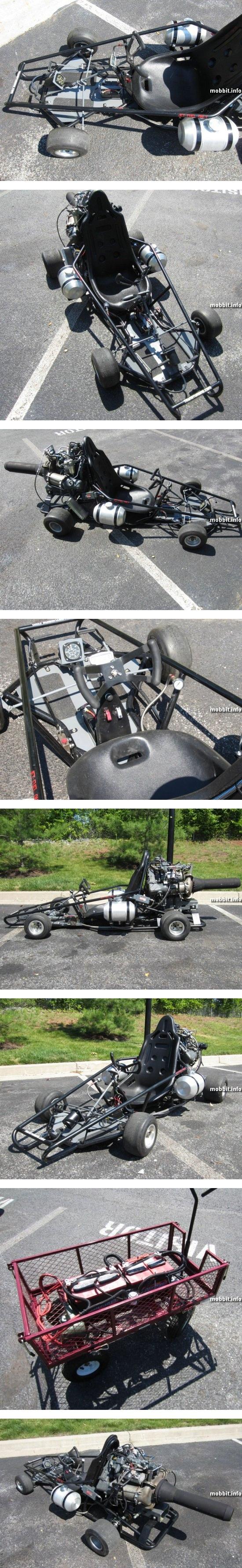 Уникальная повозка с реактивным двигателем