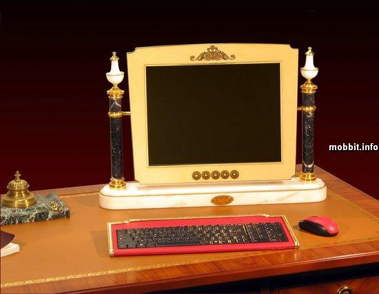 Позолоченные компьютеры в королевском стиле