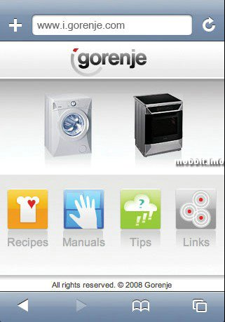 Gorenje Made for iPod fridge