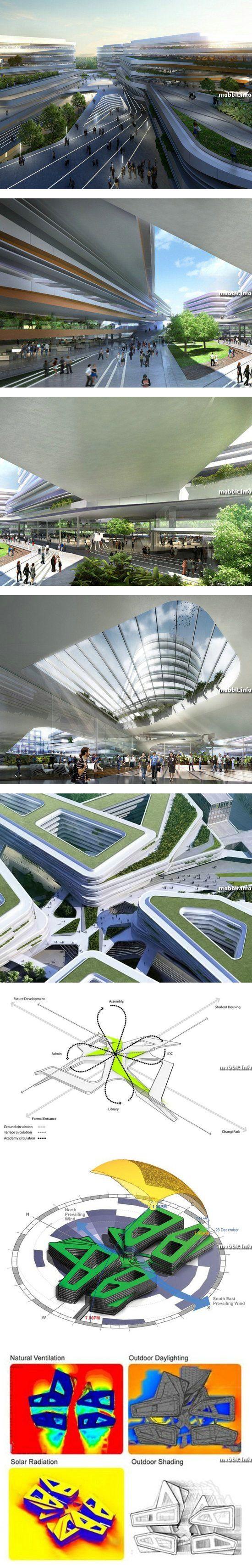 Проект университетского городка для Сингапурского университета