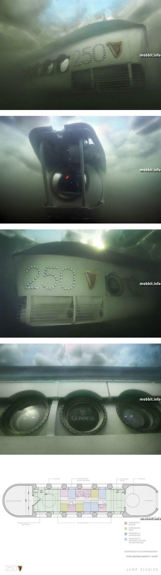 Подводная лодка превращается… в бар