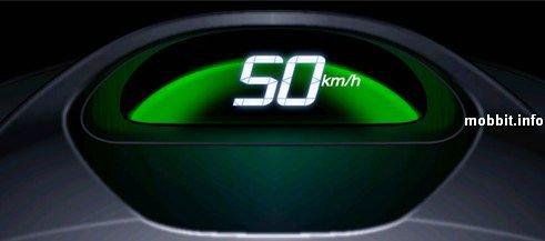 Спидометр для Honda Insight 2009, отображающий, насколько оптимально расходуется топливо.