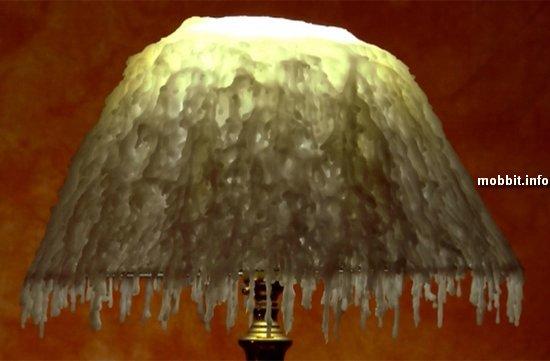 Лампа с восковым абажуром