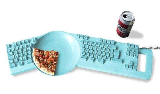 Клавиатура со встроенной тарелкой