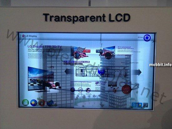 47-дюймовый прозрачный IPS LCD дисплей