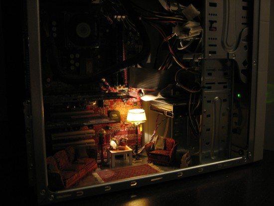 крошечная гостиная в компьютере