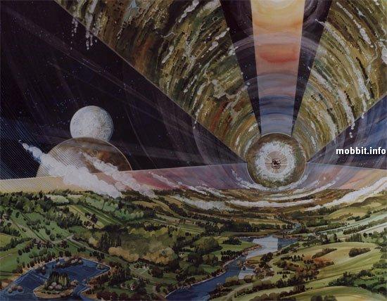 Космические колонии глазами NASA в 1970