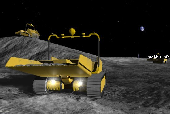 лунные роботы-экскаваторы