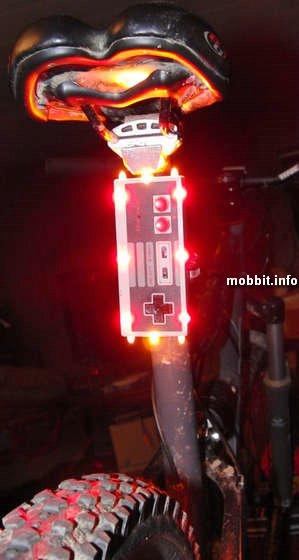фара для велосипеда из джойстика