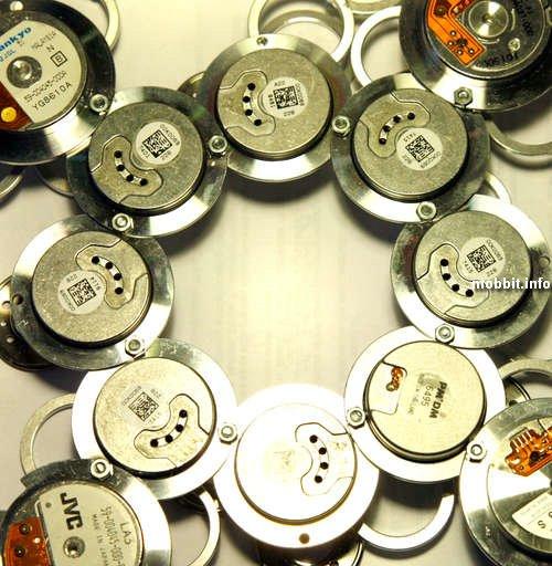 часы из ненужных жестких дисков