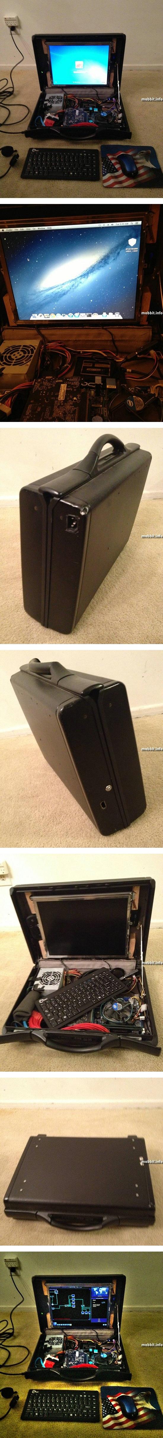 Ноутбук в чемодане