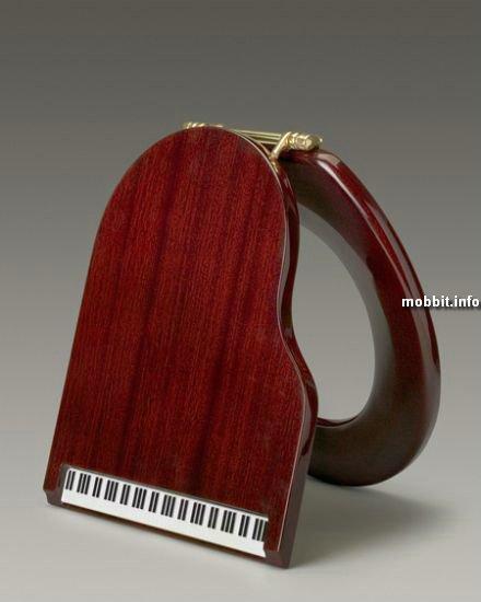 Сиденье для унитаза в форме пианино
